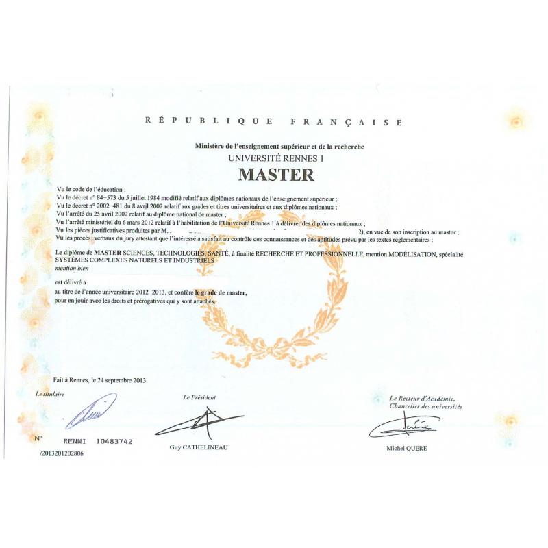 traduction dipl u00f4me licence  master  doctorat anglais asserment u00e9e