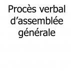 Traduction d'un procès verbal (PV) d'assemblée générale