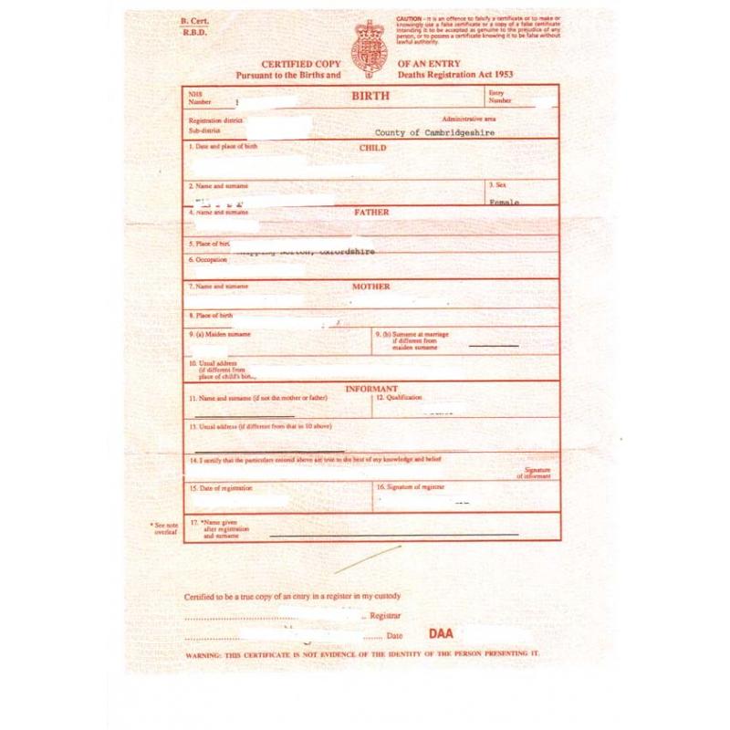 traduction acte de naissance  mariage  d u00e9c u00e8s britannique asserment u00e9e