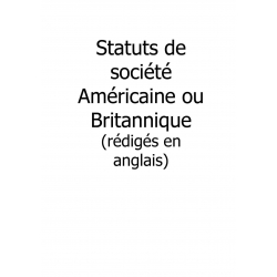 Traduction de statuts de sociétéGB ou US