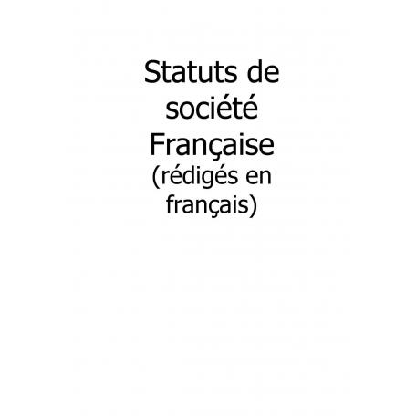 Traduction de statuts de société française