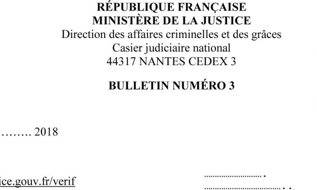 Traduction assermentée d'un casier judiciaire – Nouvelle présentation