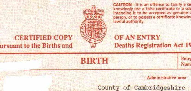 Traduction assermentée d'un acte de naissance Britannique : attention à certaines spécificités